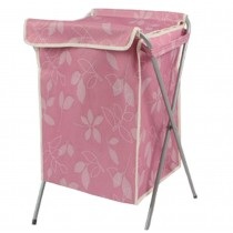 Household Essentials Foldable Laundry Basket With A Cover(66*40*35cm) PINK