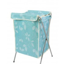 Household Essentials Foldable Laundry Basket With A Cover(66*40*35cm) BLUE