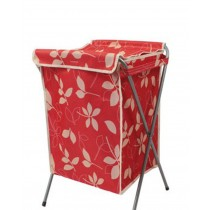Household Essentials Foldable Laundry Basket With A Cover(66*40*35cm) RED