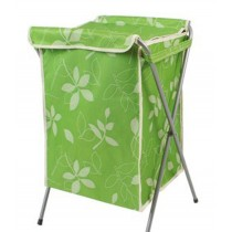 Household Essentials Foldable Laundry Basket With A Cover(66*40*35cm) GREEN