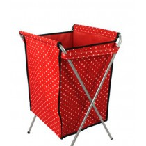 Household Essentials Foldable Laundry Basket (66*40 *35cm) DARK RED