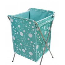 Household Essentials Foldable Laundry Basket (66*40 *35cm) BLUE