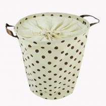 Wave Point Design Household Essentials Laundry Basket,Cylindrical