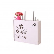 Practical WiFi Router Storage Boxes, Lucky Clover, inner 45.5x34cm/17.9x13.3inch