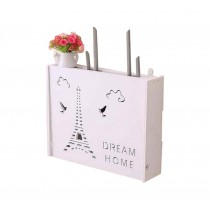 Practical WiFi Router Storage Boxes, Iron Tower, inner 45.5x34cm/17.9x13.3inch