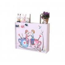 Practical WiFi Router Storage Boxes, Romantic Day, inner 45.5x34cm/17.9x13.3inch