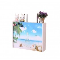 Practical WiFi Router Storage Boxes, Summer Love, inner 45.5x34cm/17.9x13.3inch