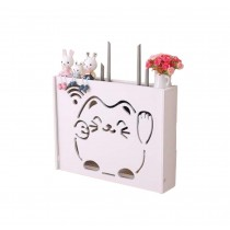 Practical WiFi Router Storage Boxes, Lucky Cat, inner 45.5x34cm/17.9x13.3inch