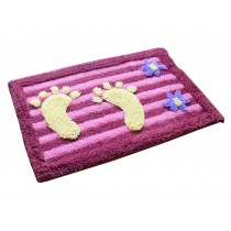 "Lovely Non-Slip Foot Doormat Room Mat Decor Rug,PURPLE,15.5*23.5"""