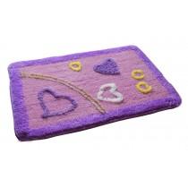 """Lovely Non-Slip Doormat Absorbent Bedroom Decor Rug,Purple Love,15.5*23.5"""""""
