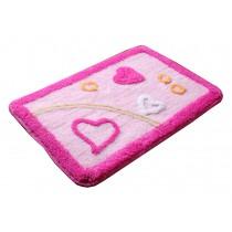 """Lovely Non-Slip Doormat Absorbent Bedroom Decor Rug,Pink Love,15.5*23.5"""""""