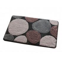 "Lovely Non-Slip Doormat Durable Bedroom Decor Gray Stone Rug,15.5*23.5"""
