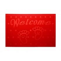 """Lovely Non-Slip Welcome Doormat Durable Door Mat RED,15.5*23.5"""""""