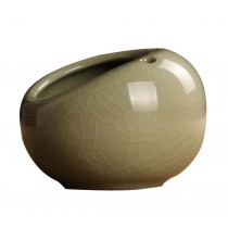 Retro Creative Ceramic Cigarette Ashtray for Home Office Decoration, BEIGE