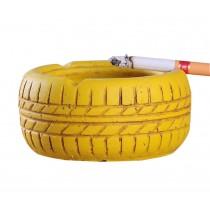 Living Room Desktop Decoration Ashtray Creative Tire Pattern Ashtrays (YELLOW)