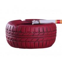 Living Room Desktop Decoration Ashtray Creative Tire Pattern Ashtrays (RED)