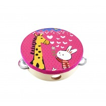 Pink,Lovely Hand Drum Kids Musical Instruments Toy Tambourine