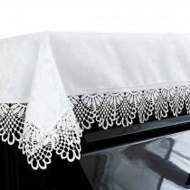 Dustproof Piano Cloth Piano Cover Lace Upright Piano Dust Cover White PianoTowel