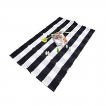 Typical Black&White Striped Chair Mats, Cotton Chair Mat for Carpet 60*90cm