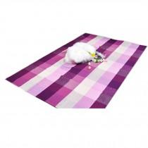 White&Purple Plaid Cotton Chair Mats Chair Mat for Hard Flooring 60*90cm