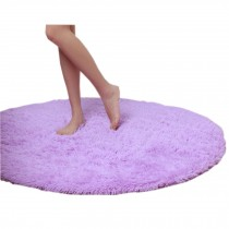Nonabrasive Round Chair Mats Purple Fuzzy Durable Chair Carpet 31*31""