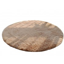 Nonabrasive Round Chair Mats Fuzzy Durable Chair Carpet 100*100cm (Light  Camel)