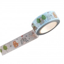 Set of 4 Creative Korea Style Office Paper Tapes with Cute Cartoon Pattern