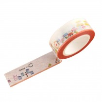 Set of 4 Paper Tapes Stationery DIY Fresh Style Orange Smile Tape 4.5x1.5cm