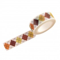 Set of 4 Fresh Style Office Stationery Paper Tapes with Colorful Square Pattern
