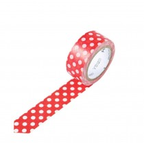Set of 3 Rolls RED Wave Point Lovely Decorative Tape Scrapbooking Paper Sticker
