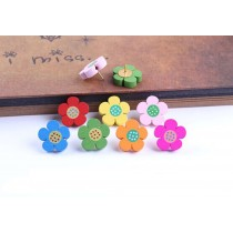 Creative Office Item/Woodiness Colorful Floret Pushpins/50 Piece/Random Color