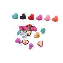 Creative Office Item/Colorful Heart Dot Series Pushpins/30 Piece/Random Style