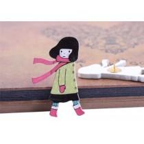 Beautiful Girl Pushpins Drawing Pin 10 Pcs for shcool or office