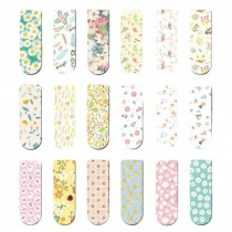 18 Pcs Mini Magnet Bookmark Paper Clips Magnetic Stickers Gifts, Spring Flowers
