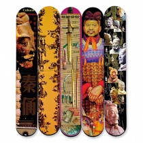 Set of 5 Terra-Cotta Warriors Pattern Chinese Style Magnet Bookmark