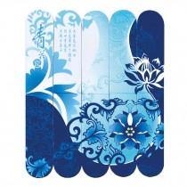 5 Pcs Chinese Blue and White Porcelain Pattern Magnet Bookmark Fridge Magnet