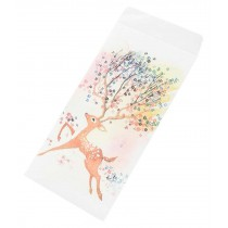 30pcs Japanese Style Invitation Envelopes Artistic Deer Greetings Cards, Running