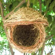 Birds Cages & Accessories/Home Decoration--Handmade Straw Nest Hamster Fossa