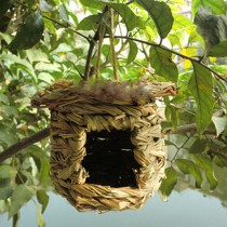 Birds Cages & Accessories--Handmade Straw Nest Bird's Nest Rainproof Birdcage