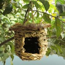 Birds Cages & Accessories--Handmade Straw Nest Bird's Nest Rainproof Birdcage