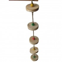 Set of 2 Bird Toys--18-Inch Handmade Parrots Hamster Ladder Stand/Bridge