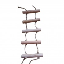 Simple Design Bird Toys--Handmade Parrots Hamster Ladder Stand/Bridge,BROWN