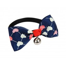 Cute Adjustable Bow Tie with Bell Pet Collar for Cats Dogs BLUE Loves