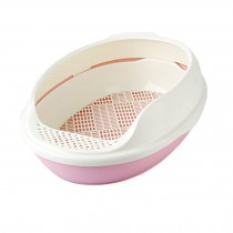"Upgrade Version Indoor Training Pet Potty Cat litter Basin(19.5""*15""*7.8""),PINK"