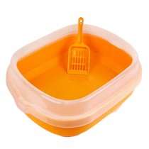 "High-quality Indoor Training Pet Potty Cat litter Basin(18.5""*1.5""*5""),ORANGE"