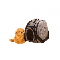 Portable Folding Pet Carrier Shoulder Bag for Dogs and Cats (42*26*32cm, GRAY)