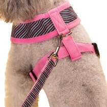 Vest Leashes - Dog Harness Leash--??L Size: Bust 46cm??Pink Bars