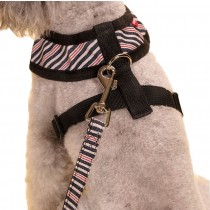 Vest Leashes - Dog Harness Leash--??L Size: Bust 46cm??Black Bars