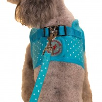 Vest Leashes - Dog Harness Leash--??L Size: Bust 46cm??Blue Dot