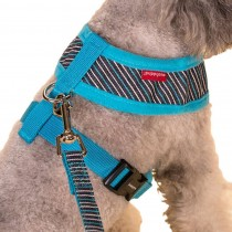Vest Leashes - Dog Harness Leash--??L Size: Bust 46cm??Blue Bars 1
